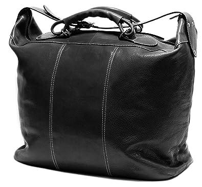 ce7baa3a8135 Amazon.com  Floto Medium Piana Tote Black Italian Leather Luggage Weekend  Bag  Shoes