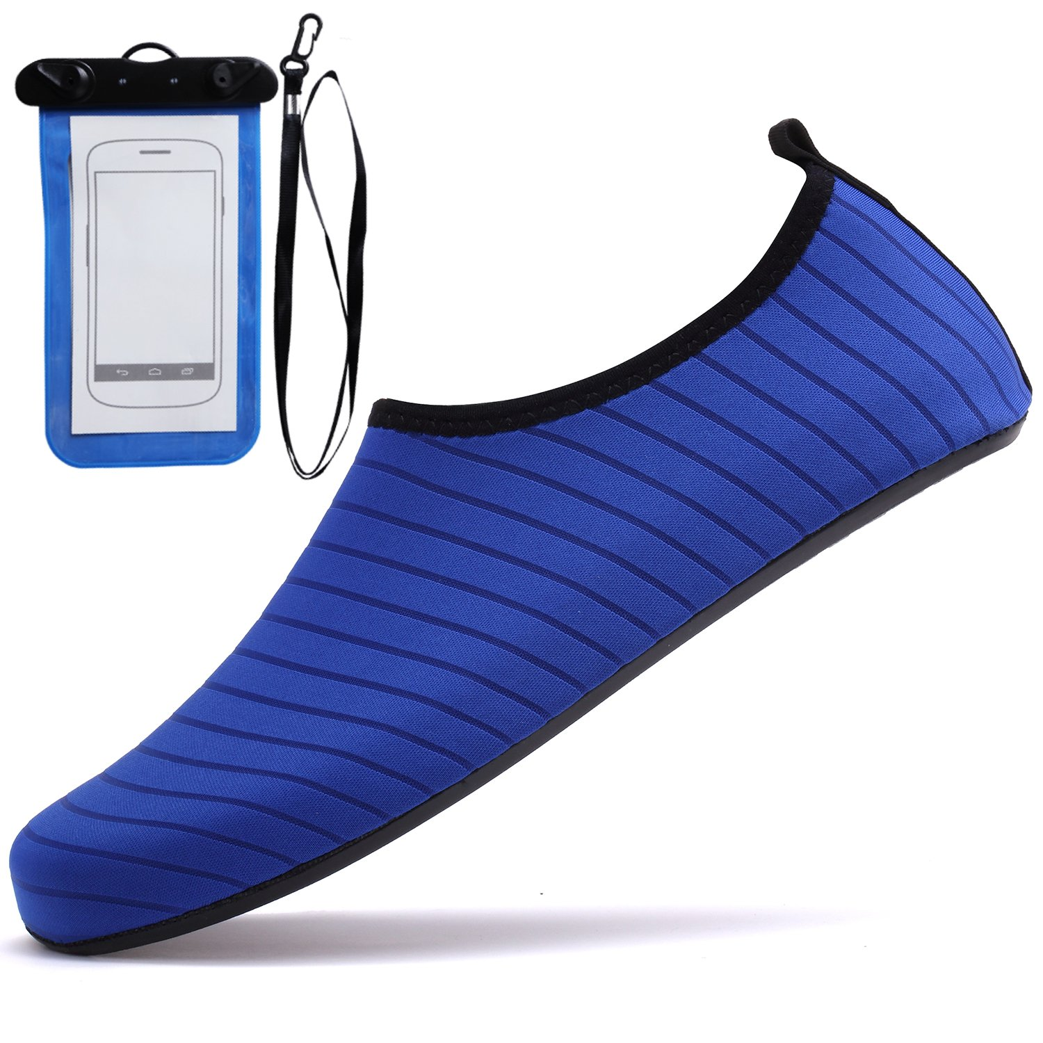 Sixspace Barefoot Shoes Beach Running Shoes Water Shoes Quick-Dry Aqua Yoga Socks for Surf Swim Water Sport, Dark Blue