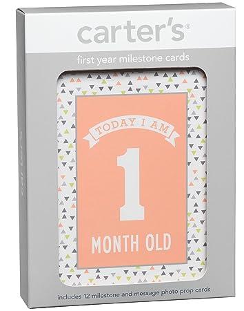 Amazon.com: c.r. gibson Carter s primer año hitos y ...