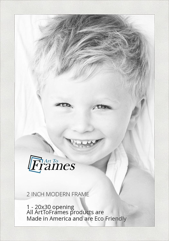 Amazon.com - ArtToFrames 20x30 inch Modern White Frame Picture Frame ...