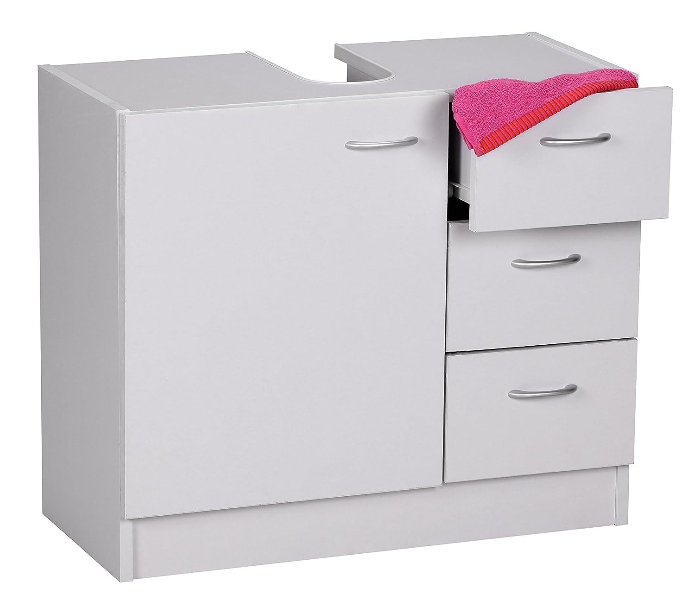 Wohnling Bad Waschbecken Unterschrank 54 X 63 X 30 Cm 1 Tür, 3 Schubladen,  Weiß: Amazon.de: Küche U0026 Haushalt