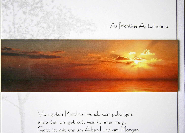 Trauerkarte SPUREN IM HERZEN metALUm #00045 Engel