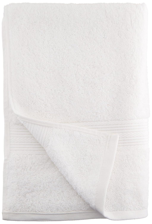 AmazonBasics - Juego de toallas (colores resistentes, 2 toallas de baño), color blanco: Amazon.es: Hogar