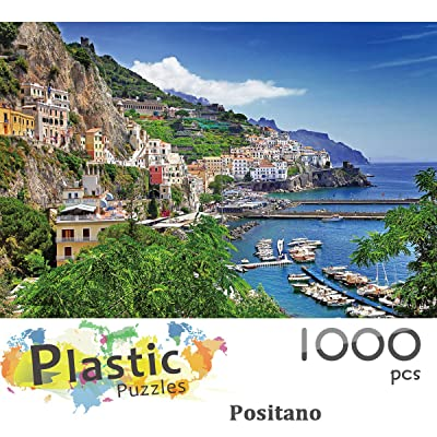 Ingooood - Jigsaw Puzzle 1000 Pieces- Positano- IG-0508- Entertainment Recyclable Materials Plastic Puzzles Toys: Toys & Games