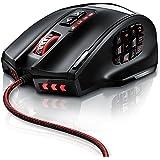 16400 dpi USB Gaming Laser Mouse | frequenza di campionamento 16400 dpi | 18 tasti | High Precision | colore delle spie luminose LED configurabile | Avago Sensor Technology | MMO Gaming | software / tasti programmabili | fino a un'illuminazione di 30 G | spina dorata | design ergonomico | Plug & Play