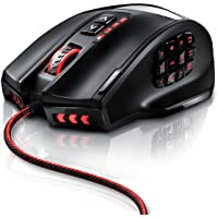 Titanwolf - 16000 dpi USB MMO gaming laser mouse | 18 buttons | high precision | configurable LED colour lighting | Avago sensor technology | MMO gaming | incl. software (programmable buttons) | up to 30g acceleration | gold-plated connectors | ergonomic design | plug & play