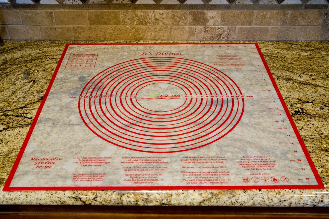 Ambrosial Pastry and Dough Mat, Extra-Large 24 Inch by 24 Inch, A Military Spouse Owned Company by Ambrosial (Image #1)