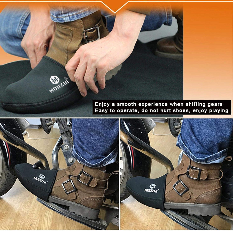 Coussin de levier de vitesse Antid/érapant roosteruk Prot/ège-chaussures pour moto