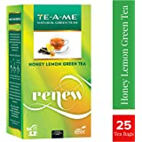 TE-A-ME Honey Lemon Natural Green Tea, 25 Tea Bags