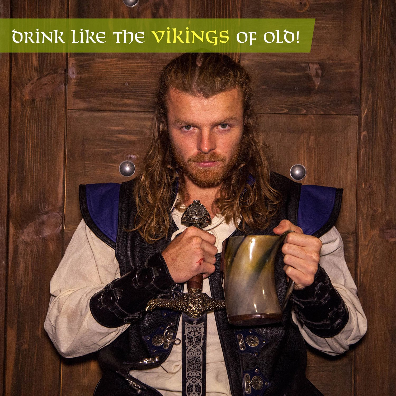 Norse Tradesman Genuine Viking Drinking Horn Tankard (4, The Eternal) by Norse Tradesman (Image #9)