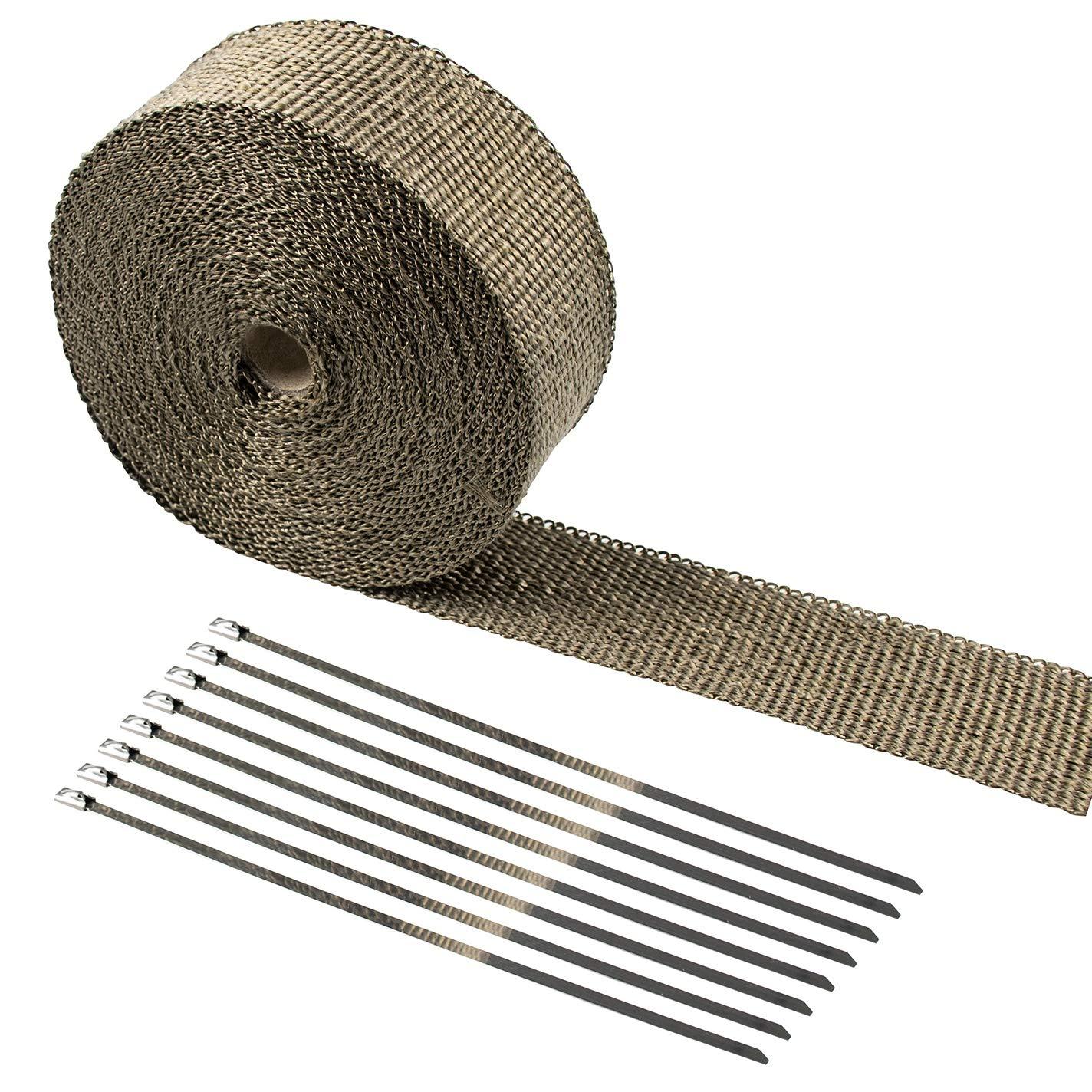 Besnail Bande de protection contre la chaleur en fibres de basalte 15 m avec serre-c/âbles pour miettes