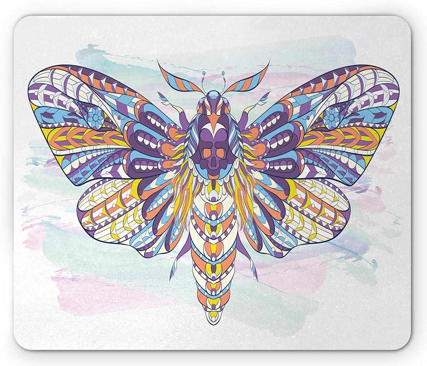 Alfombrilla de ratón con diseño de animales y manchas de pintura ...