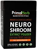Brain & Nerve Support, Nootropics | By Primal Herb | Mental Clarity & Focus | Lion's Mane Mushroom, Reishi Spores Plus Organic Herbal Extract Powders - 82 Servings - Includes Bamboo Spoon