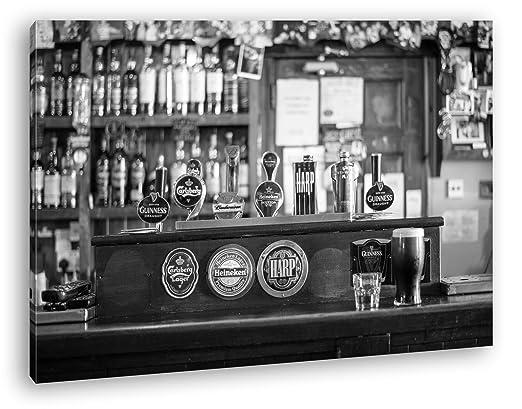 Mostrador en una Irlandesa Bar Efecto: Negro/Blanco Como ...
