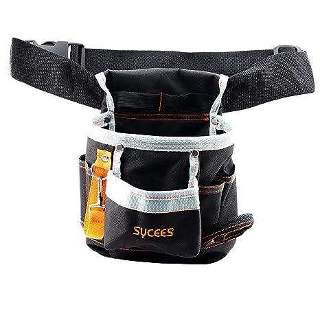 SYCEES Bolsa herramientas con cinturón para herramientas manuales y eléctricas para electricista, Material de oxford 600D duro y resistente al ...