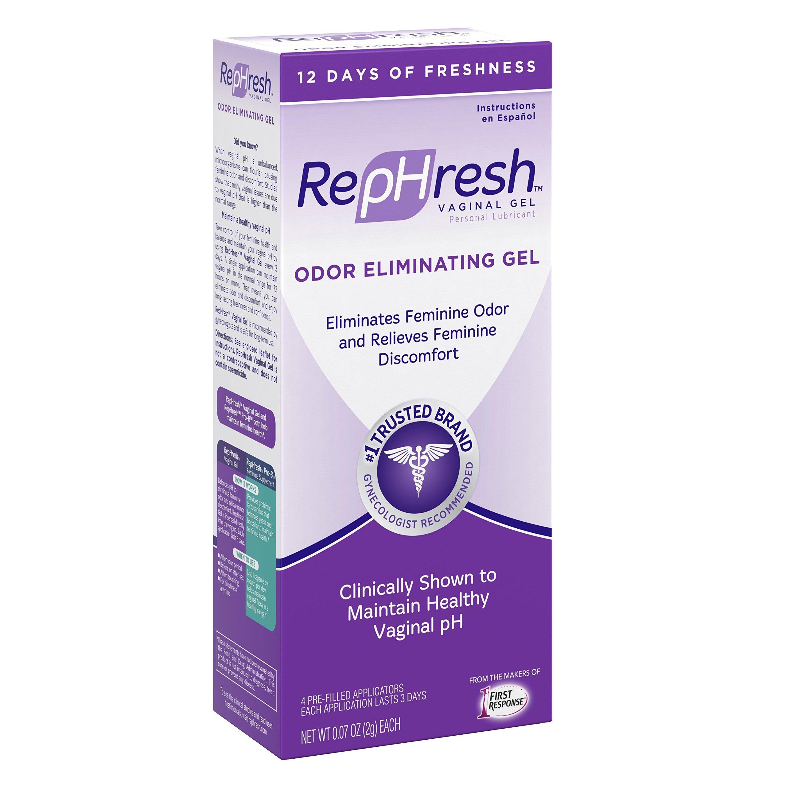 RepHresh Vaginal Gel, 0.07 Oz, 4 Count