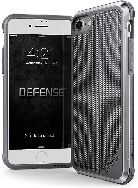 Amazon Com X Doria Iphone Se Iphone 8 Iphone 7 Case Defense Lux Military Grade Drop Tested Anodized Aluminum Tpu And Polycarbonate Case For Apple Iphone Se 8 7 Ballistic Nylon Computers Accessories