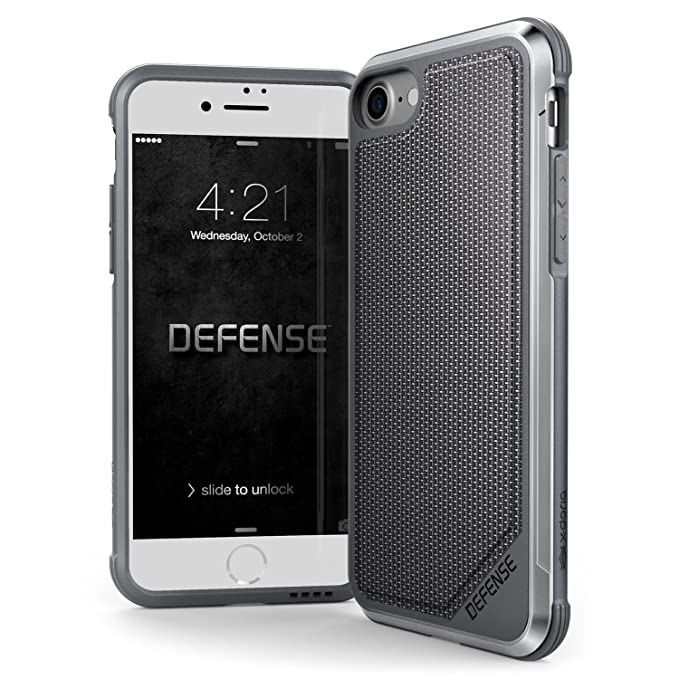 timeless design 9d978 ba40b iPhone 8 & iPhone 7 Case, X-Doria Defense Lux Series - Military Grade Drop  Tested, Anodized Aluminum, TPU, and Polycarbonate Case for Apple iPhone 8 &  ...