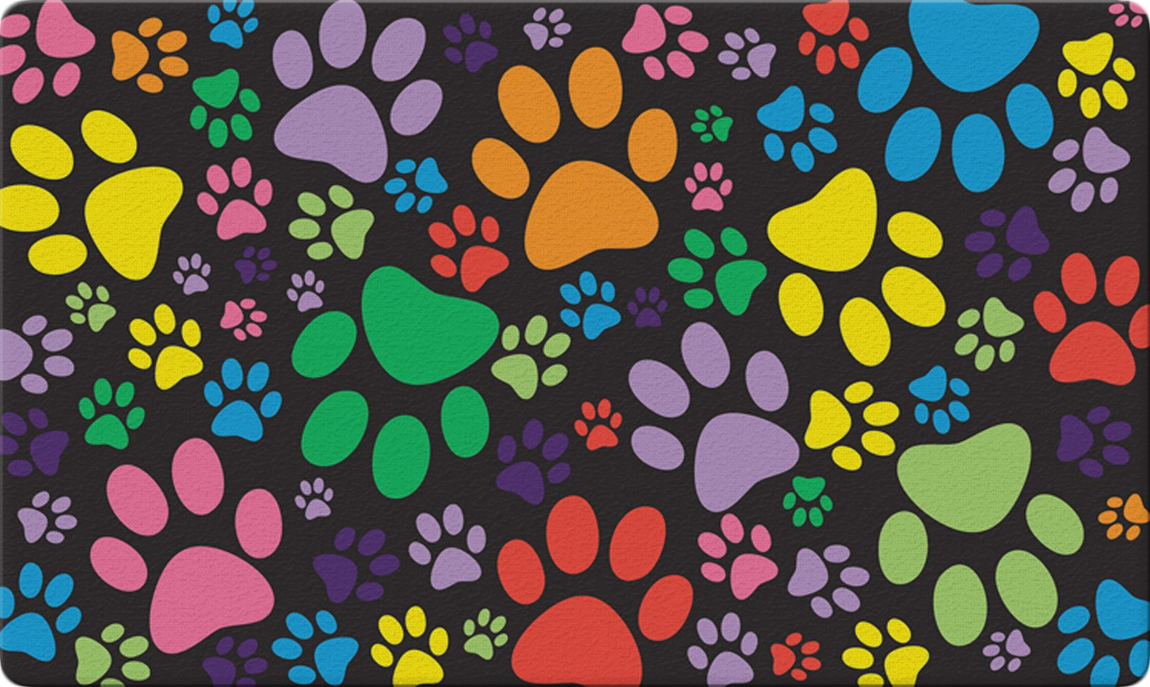 Toland Home Garden Puppy Paws 18 x 30 Inch Decorative Floor Mat Colorful Puppy Dog Kitty Cat Collage Doormat