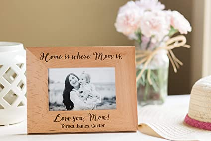 7f6485f1aa Qualtry Personalized Engraved Mom Picture Frame - Sentimental Mother's Day  and Mother of The Bride Wedding