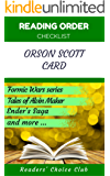 Reading order checklist: Orson Scott Card - Series read order: Formic Wars series, Tales of Alvin Maker, Ender's Saga and more! (English Edition)