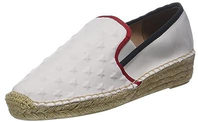 bb51a6f9 Tommy Hilfiger Women's Corporate Slip On Espadrille, White (RWB 020), 3.5 UK