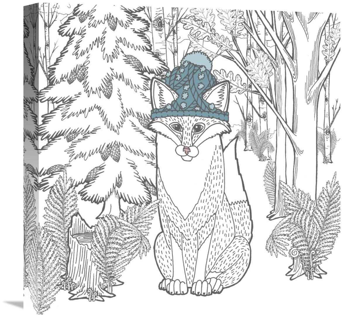 18 X 18 Global Gallery Elyse Deneige Forest Color Iv Canvas Artwork