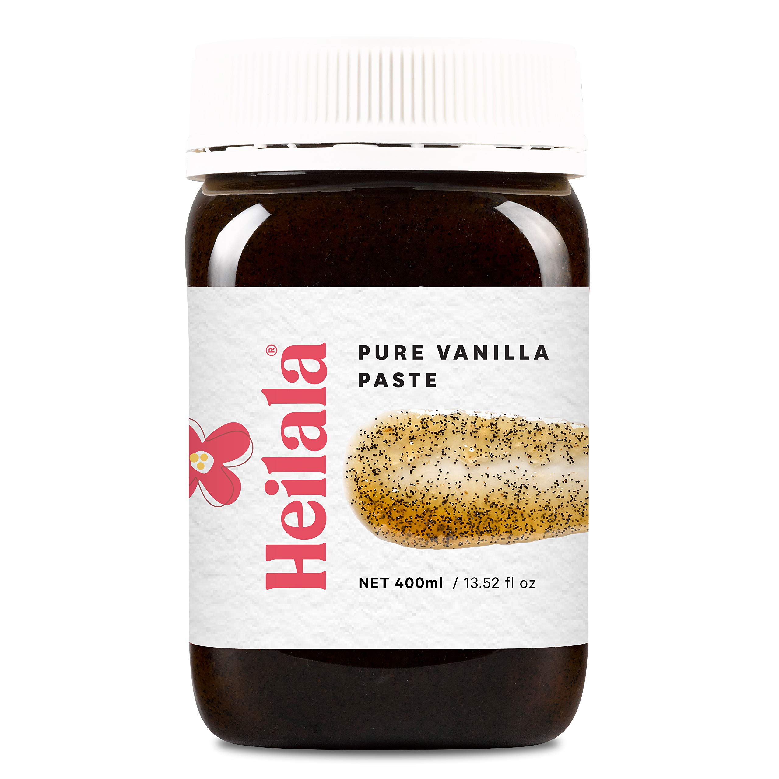 Vanilla Bean Paste for Baking - Heilala Pure Vanilla Bean Paste (13.52 fl oz), Contains Whole Vanilla Bean Seeds