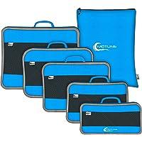 MOTUNE® 6-teiliges Packing Cubes Set - Koffer Organizer Set Ultraleicht - platzsparendes Reise Packtaschen Set - Mit extra großem Wäschebeutel - Kleidertaschen-Set blau