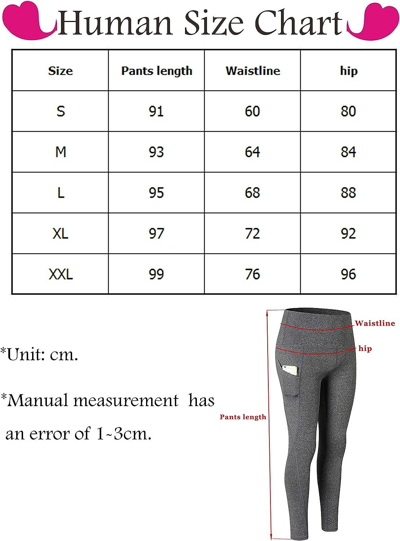 SHEKINI Damen Yoga Hohe Taille Sport Leggings Abnehmen Hosen Kompression Workout Gym Strumpfhosen Nahtlose /Übung Hosen Jogger Bottoms Pack