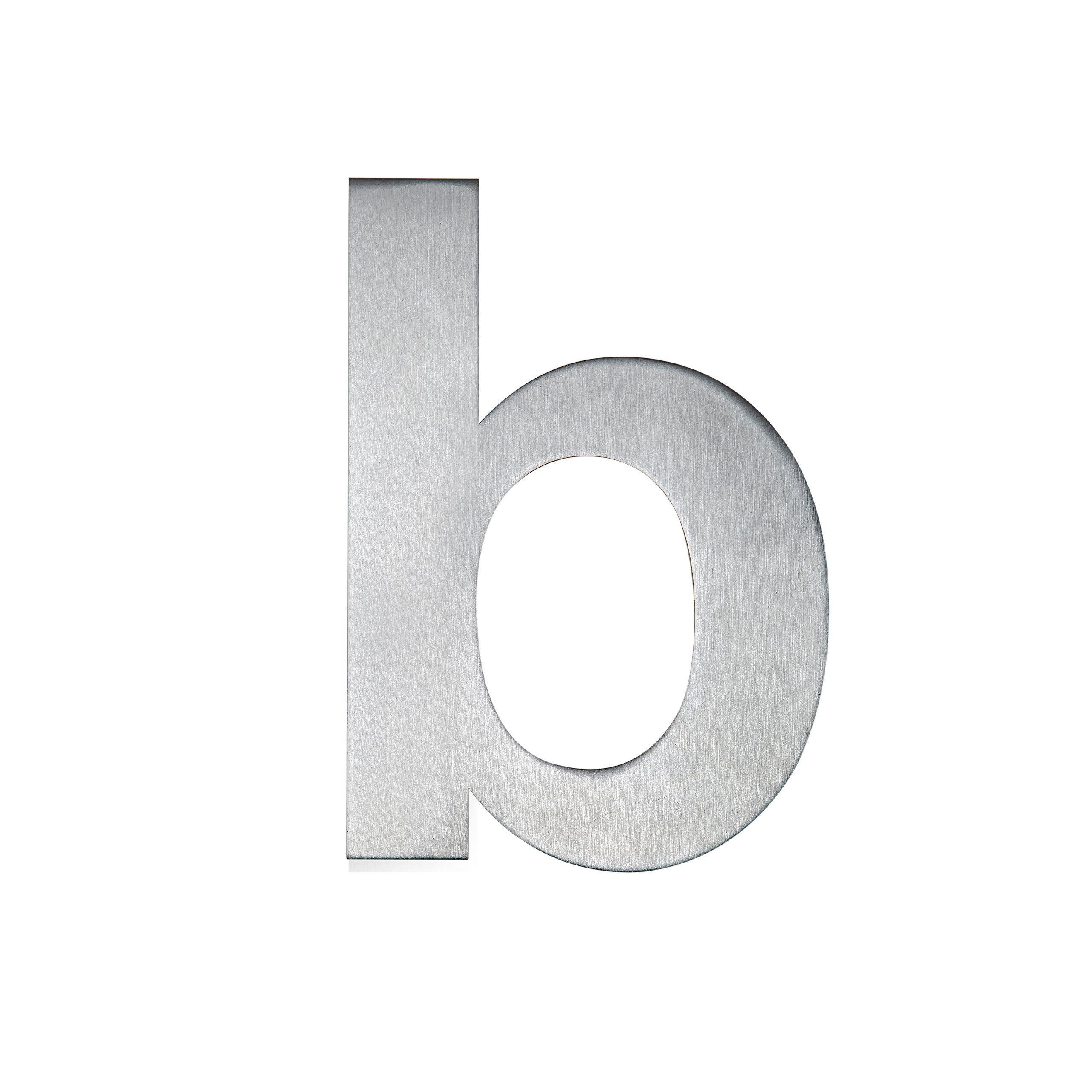 QT Modern House Number - SMALL 4 Inch - Brushed Stainless Steel (Letter b), Floating Appearance, Easy to install and made of solid 304