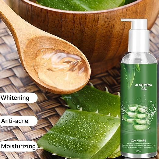 Betope Gel de Aloe Vera Pura, Aloe Vera 100 Puro Natural, Gel Hidratante Corporal y Facial, Cuidado After Sun/Calmar Después de la Depilación 250ml: ...
