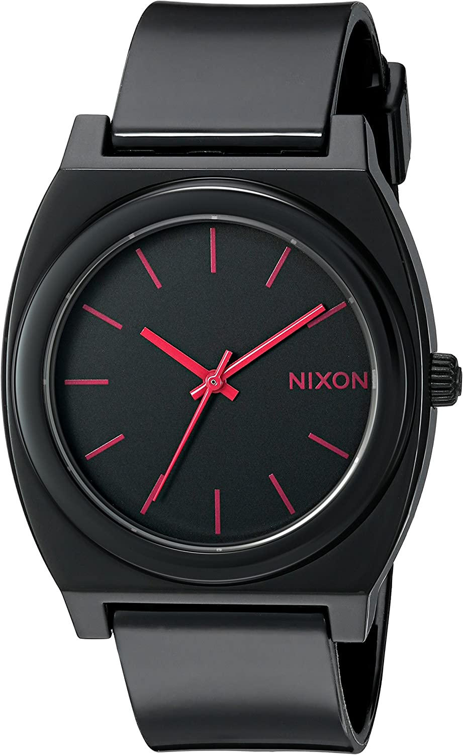 Nixon Time Teller P -Spring 2017- Black/Bright Pink