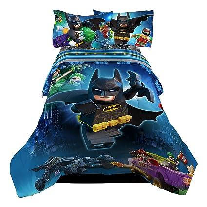2fc113e7ce Amazon.com  LEGO Batman Way Brozay Twin Full Comforter  Home   Kitchen
