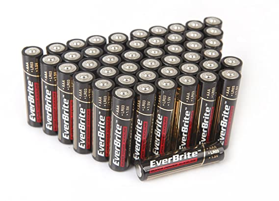 Everbrite e006011ae alkaline aaa battery 48 pack amazon.com