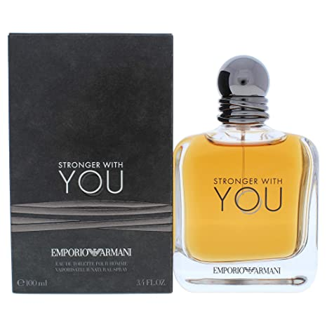 Giorgio Armani Emporio Armani Stronger With You For Men 3 Piece Set 3.4 Oz Eau De Toilette Spray 2 X 2.5 All Over Body Shampoo