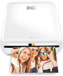 Kodak Step Wireless Mobile Photo Mini Printer (White) Compatible w/iOS & Android, NFC & Bluetooth Devices