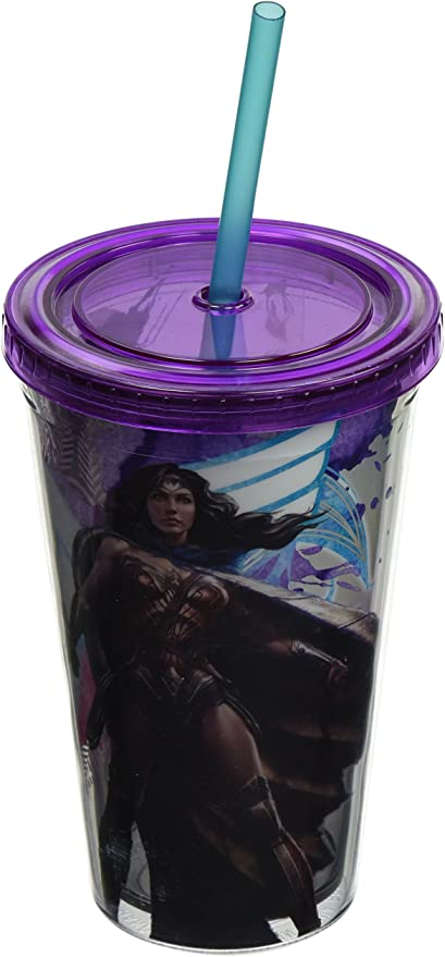 Silver Buffalo Wonder Woman Stars Can Cooler
