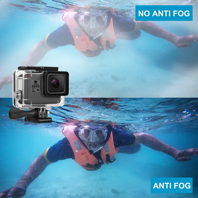 iTrunk 14 in 1 Accessories Kit Mounts Compatible for Gopro Hero 7 Black 2018 6 5 Waterproof Housing Case Red Filter Anti-fog Insert for Gopro Hero7 Black Hero6 Hero5 2018