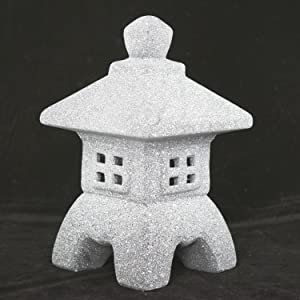 "Miniature Ceramic Pagoda / Lantern for Bonsai and Zen Garden - 4.5""x 4.5""x 7.75"""