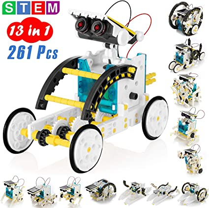 Amazon.com: KIDWILL 13-in-1 Educational Solar Robot Kit for ...