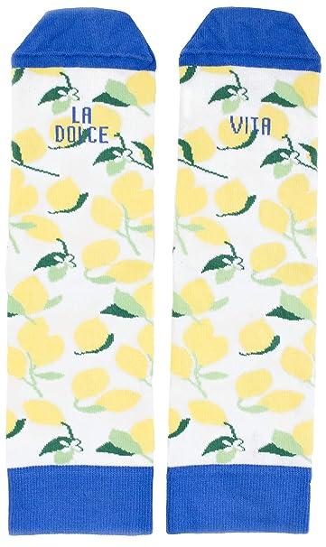 UO CLITA1, Calcetines para Mujer, Multicolor (Azul y Amarillo), 35-
