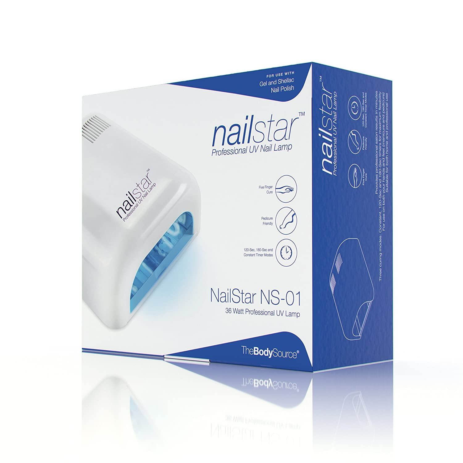 NailStar® 36 Watt Professional UV Nail Lamp Nail Dryer For Gel With 120 And  180 Second Timers + 4 X 9W Bulbs Included: Amazon.co.uk: Beauty