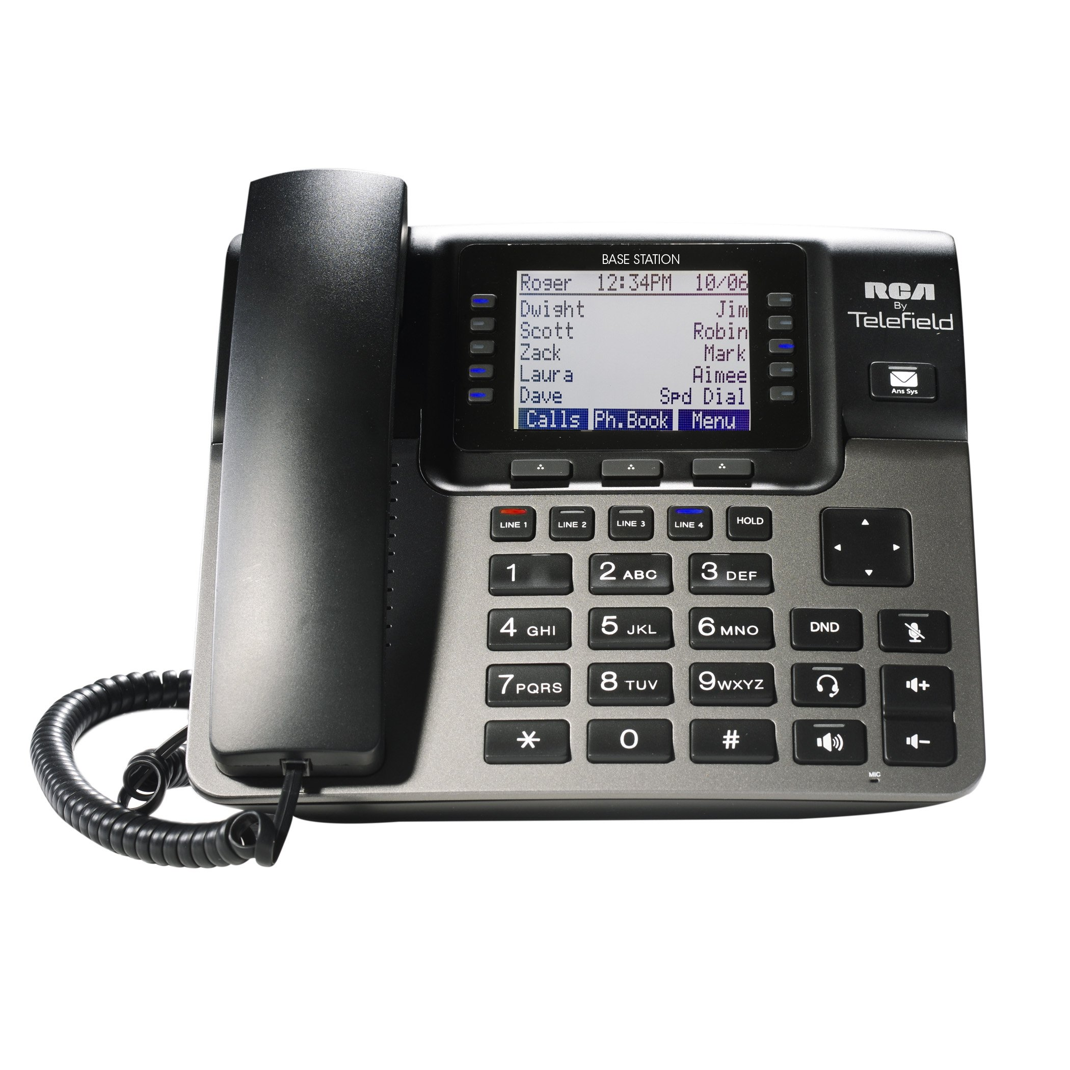 RCA Unison U1000 Dect_6.0 10-Handset 4-Line Landline Telephone by RCA