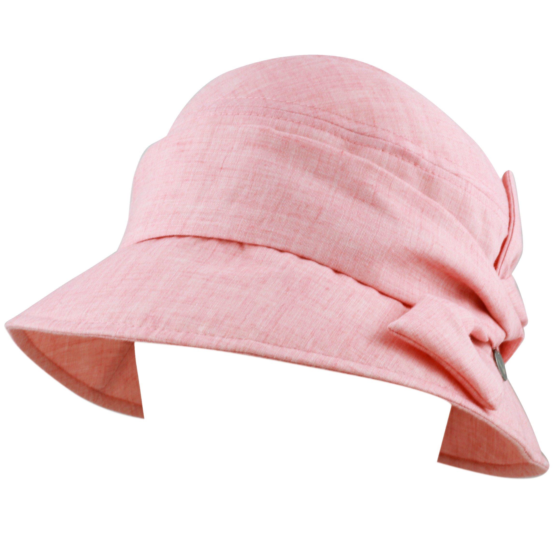 BLACK HORN Ladies Packable Women's Sun Beach Bucket Hat (Helene-Pink) by BLACK HORN (Image #3)
