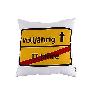 Mr Fritz Kissen Zum 18 Geburtstag 40x40cm Im Design Eines