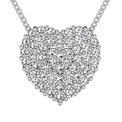 """fc4af865a4c ELLA GOLDEN HEART pendant 14k gold with 18"""" necklace chain beautiful  setting with natural diamonds I-J color single cut 0.20 cttw"""