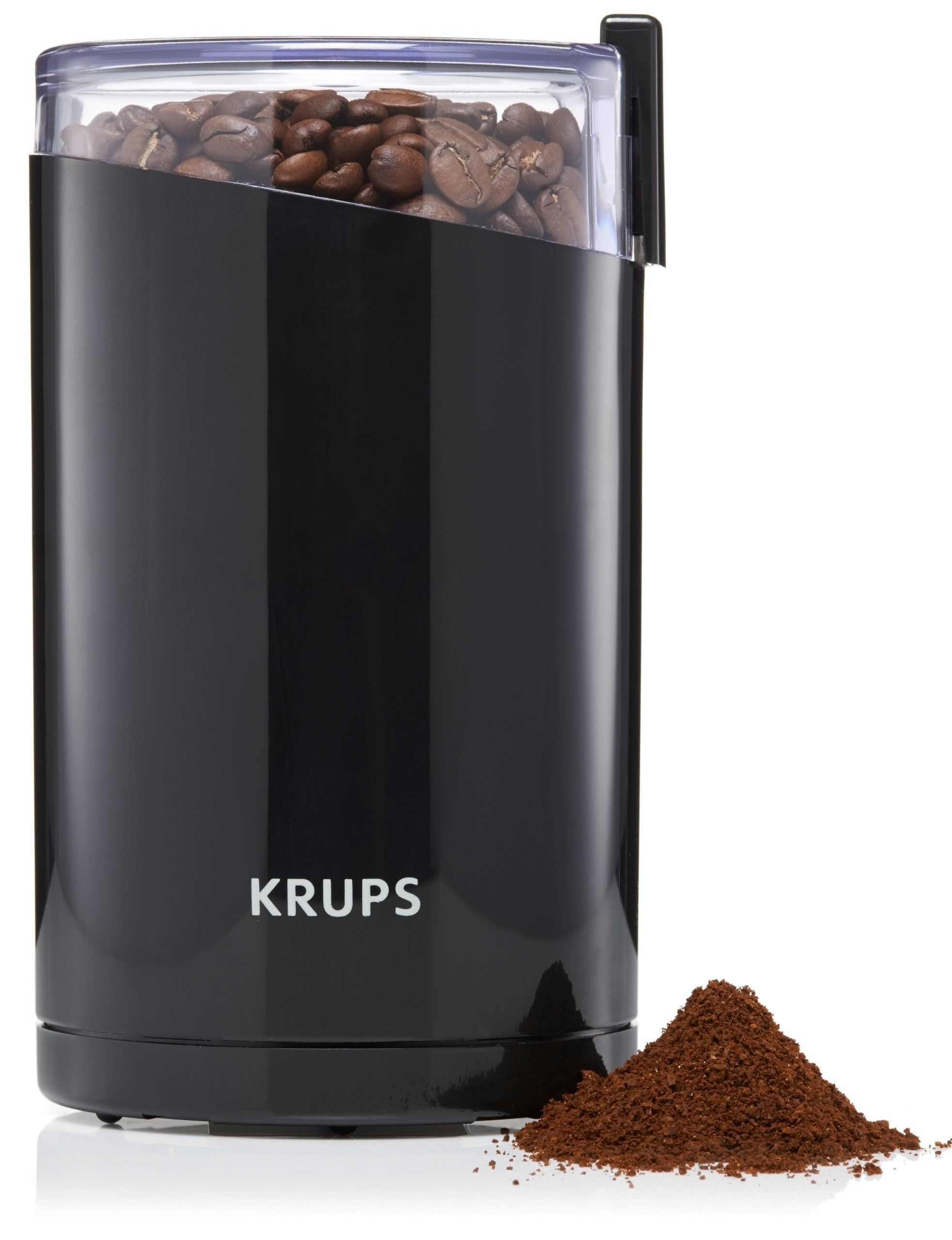 KRUPS F203 Electric Spice and Coffee Grinder with Stainless Steel Blades, 3-Ounce, Black (Renewed) by KRUPS