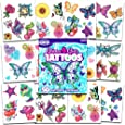 Savvi Glitter Tattoos ~ 50 Dazzling Designs ~ Hearts, Butterflies, Flowers, and More!
