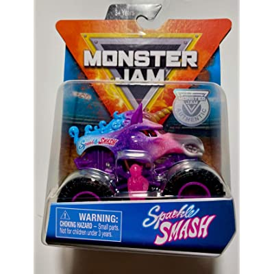 MJam Monster Jam 1:64 Scale Sparkle Smash: Toys & Games